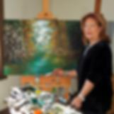 Cherl Peters' art studio