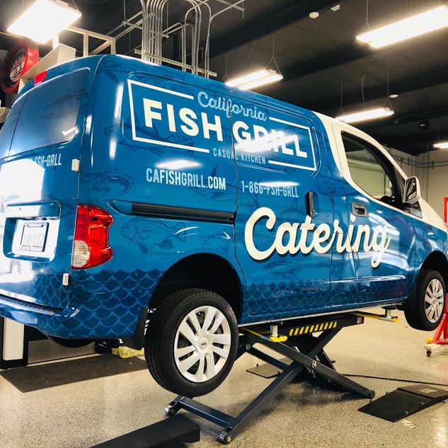 Catering Van Commercial Wrap