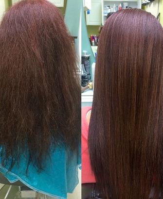 keratin hair treatment success