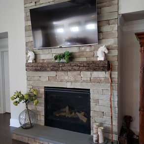 Beautiful Reclaimed Timber Mantle with Custom Finish