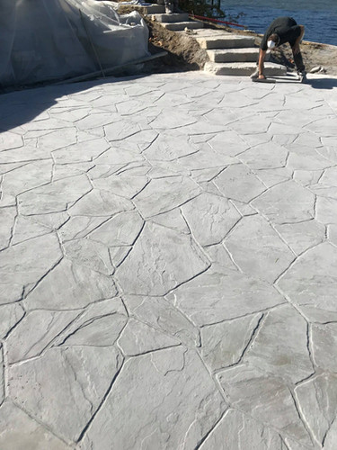 Stamped concrete to look like stone