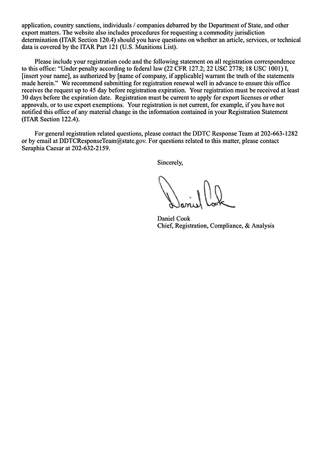 ITAR Registration Letter M35510 (dragged