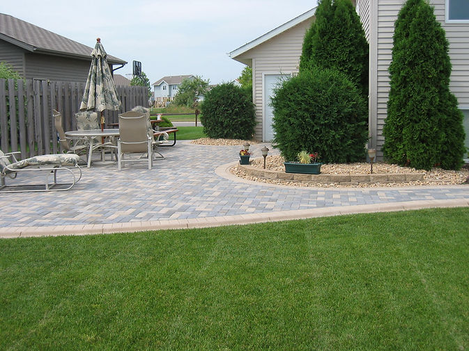 Hardscaping and patio construction in Fargo