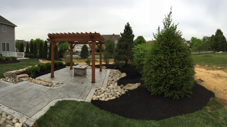 stamped concrete contractor work