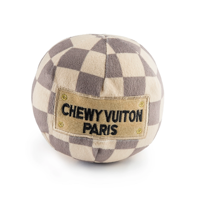 Large Cream and Brown Chewy Vuitton Ball