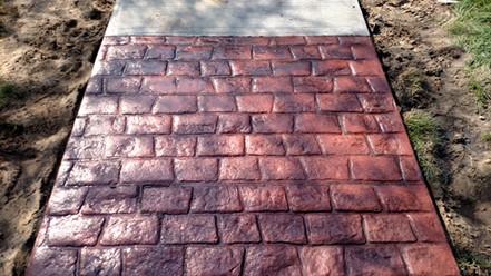 stamped concrete sidewalks muskegon