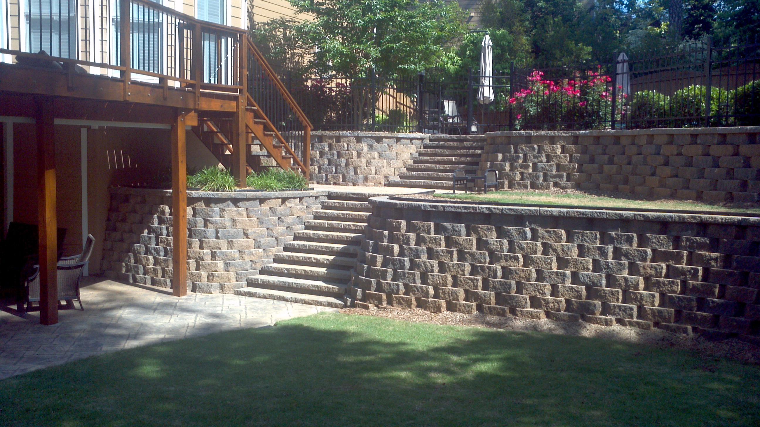 custom hardscape design atlanta retaining walls