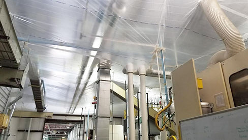 Temporary Suspended Ceiling for dust protection during construction