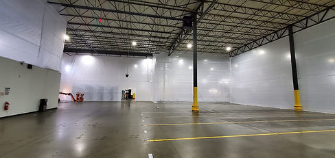 BARRIERS & PARTITION WALLS for Dust protection during construction