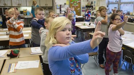 Children in Pennsylvania School Literacy Program