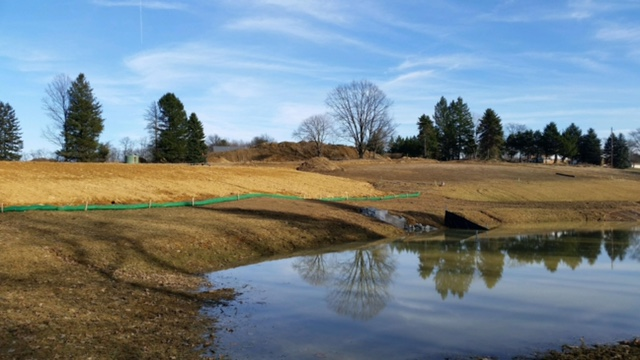 retention pond excavating western pa