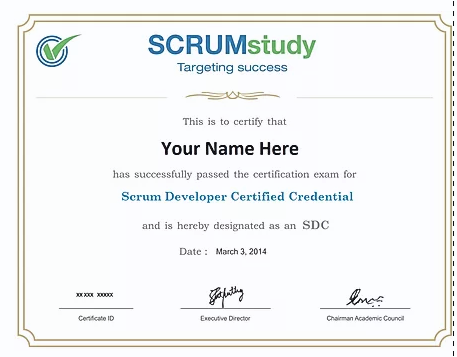 SCRUM DEVELOPER CERTIFIED SDC™  TRAINING COURSE AND CERTIFICATION EXAM