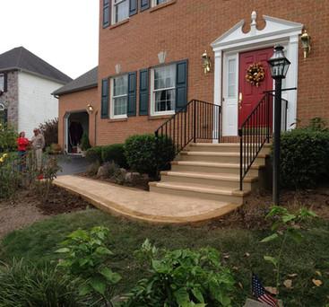 sidewalk and step resurfacing
