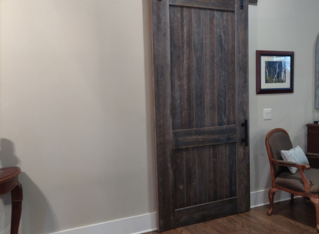 Custom Built Barn Door!