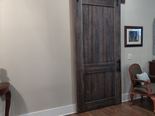 Custom Built Barn Door!
