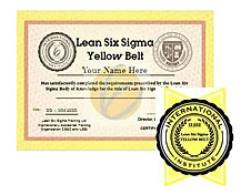 ONLINE training for Six Sigma Yellow Belt