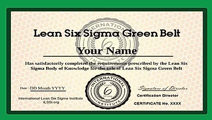 ONLINE GREEN BELT COURSE & CERTIFICATION