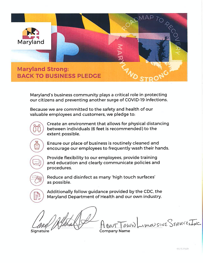 Maryland Strong BACK TO BUSINESS PLEDGE