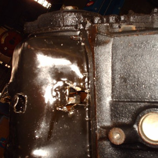 Pieces of this engine were trying to get out, some did.