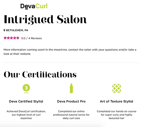 deva curl hair cut salon bethlehem reviews