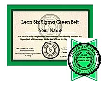 ONLINE Lean Six Sigma Green Belt training and exam