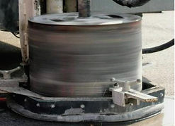 Core cutting for keyhole technology underground inspections