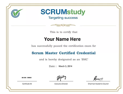 SCRUM Master CERTIFIED SMC™  TRAINING COURSE AND CERTIFICATION EXAM