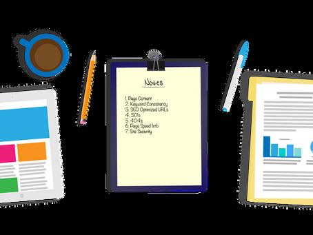 Site Audit Checklist [Updated June 2021]