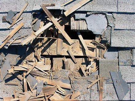 Roof storm damage repair in Garland TX