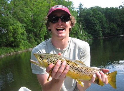 Trout fishing catch