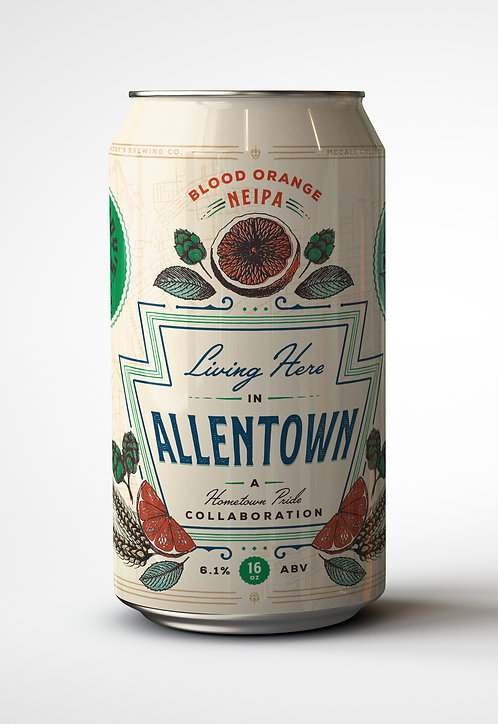 Living Here In Allentown – New England IPA with Blood Orange