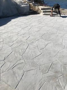 decorative concrete finishes - stamped concrete patio installation