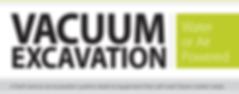 water and air vacuum excavation