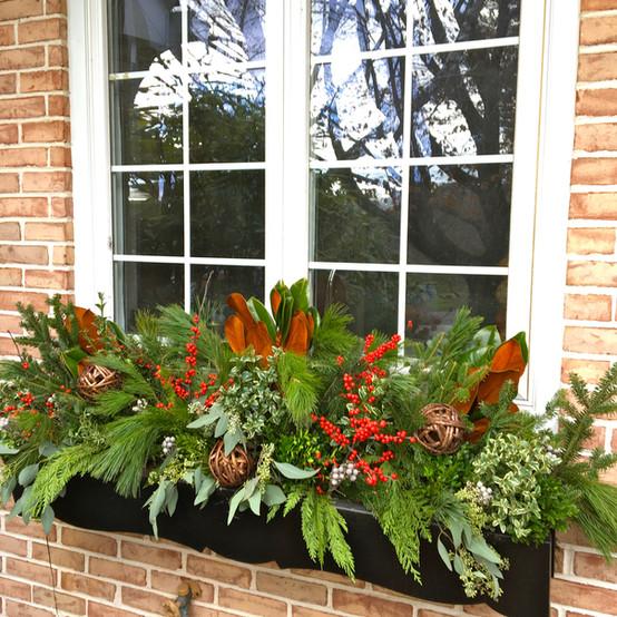 winter window planter