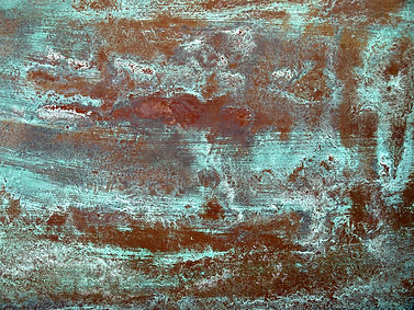 example of chemical patina on metal