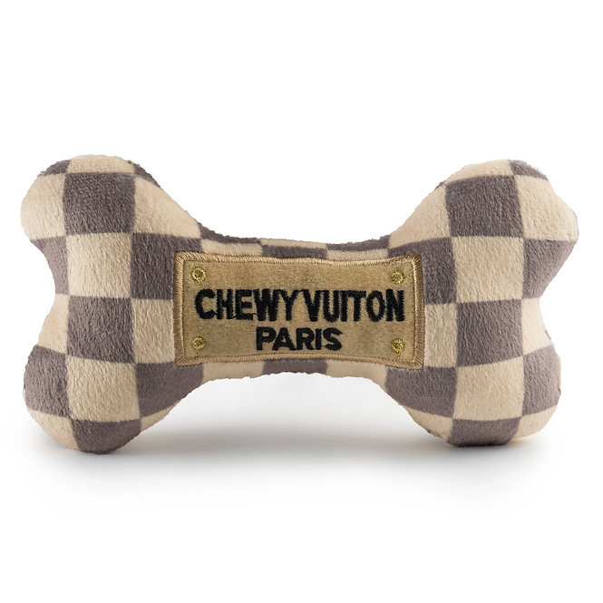 Large Cream and Brown Chewy Vuiton Bone