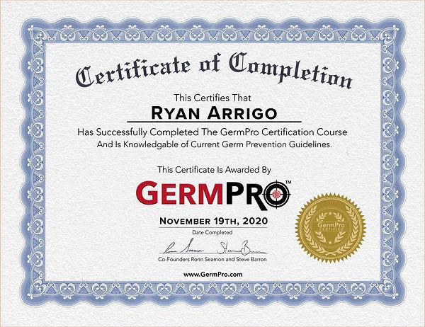 GP CERTIFICATE Ryan Arrigo.jpg