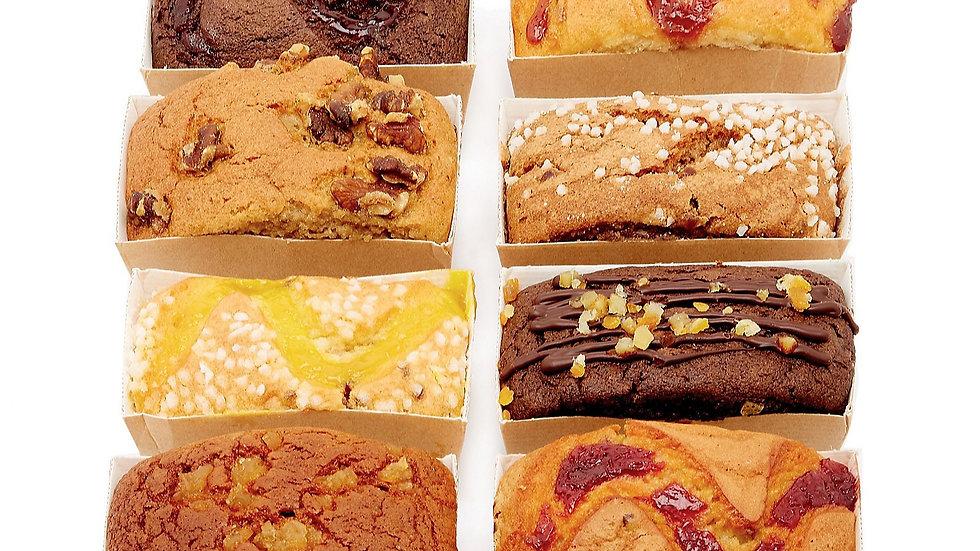 Luxury Chocolate & Vanilla Sponge Cakes x8