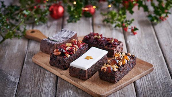 Christmas 5 Piece Cake Selection