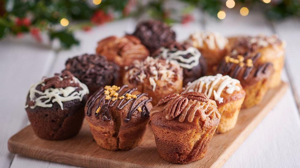 Christmas Muffin Selection x12