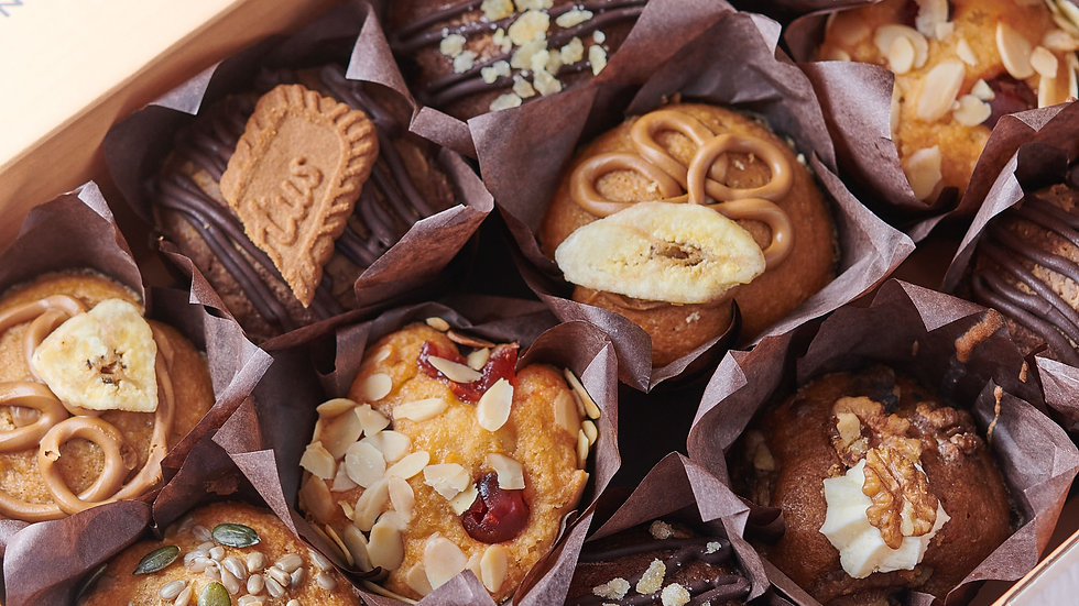 Hand Decorated Deluxe Muffin Selection