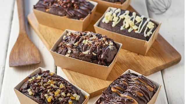 Chocolate Sponge Loaf Cakes x6