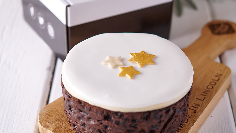 Festive Iced Topped Fruit Cake (pre-order)