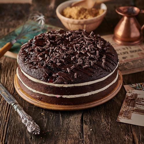 Belgian Chocolate and Cherry Kirsch Cake