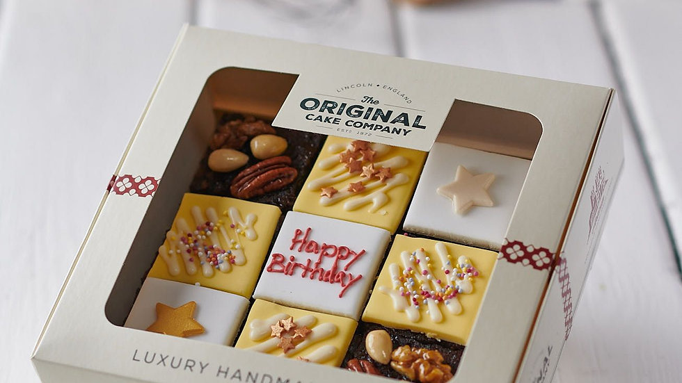Happy Birthday Luxury Fruit Cake Selection