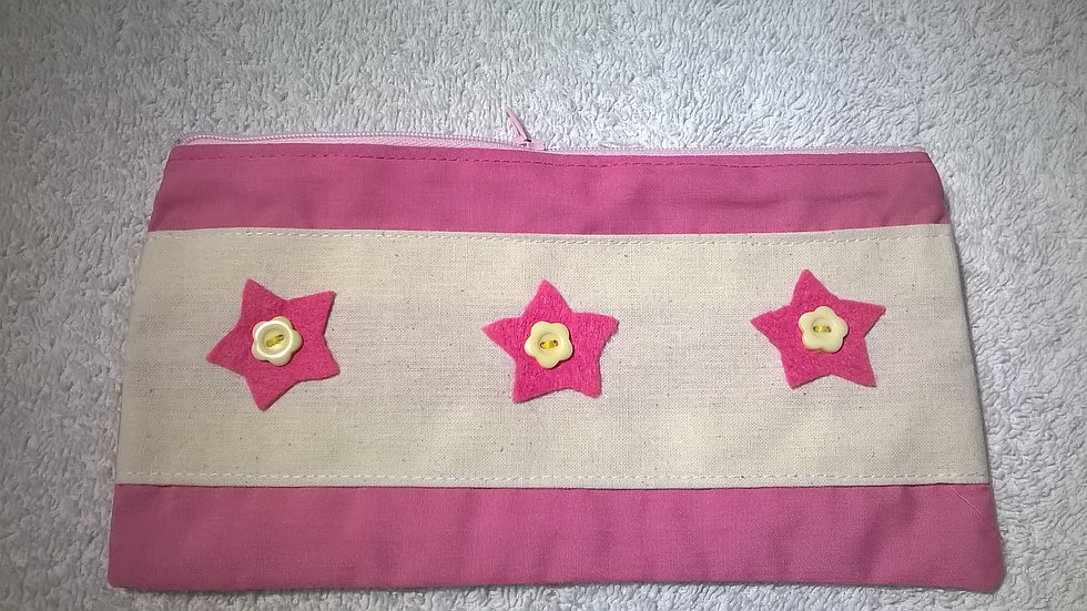 Pink Stars pencil case