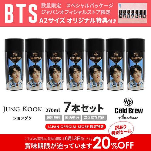 6/13賞味期限【20%OFF】「Jung Kook」7本セット BTS 防弾少年団 HY Cold Brew コールドブリュー コーヒー 特典付き