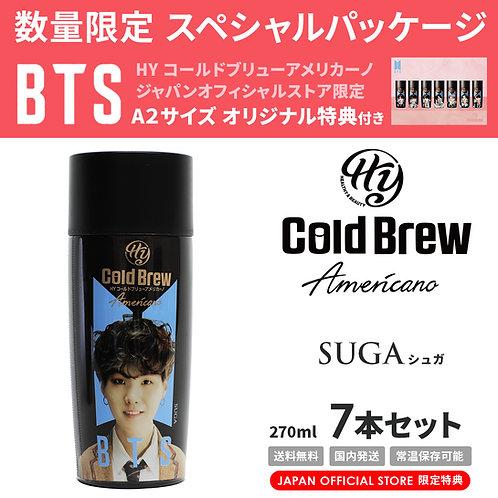 【賞味期限間近】【20%OFF】「SUGA」7本セット BTS 防弾少年団 HY Cold Brew Americano コールドブリュー コーヒー 特典付き