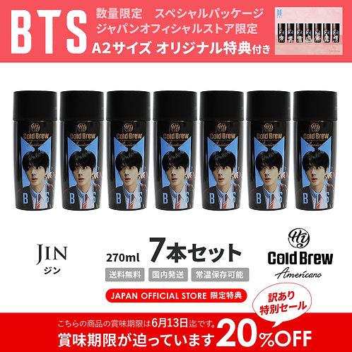 6/13賞味期限【20%OFF】「Jin」7本セット BTS 防弾少年団 HY Cold Brew Americano コールドブリュー コーヒー 特典付き