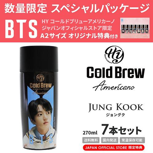 【賞味期限間近】【20%OFF】「Jung Kook」7本セット BTS 防弾少年団 HY Cold Brew コールドブリュー コーヒー 特典付き